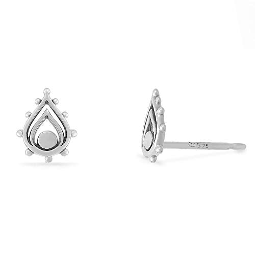 Bohemian Teardrop Stud Earrings - Boma Life Sterling Silver