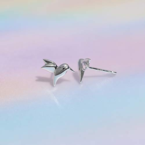 Hummingbird Stud Earrings - Boma Life Sterling Silver