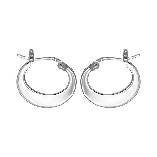 Crescent Hoop Earrings - Boma Life Sterling Silver