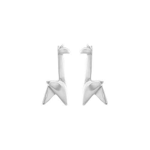Origami Giraffe Stud Earrings - Boma Life Sterling Silver