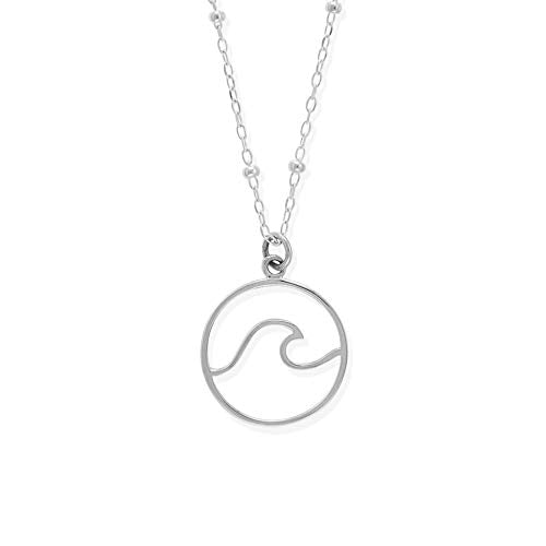 Wave Necklace - Boma Life Sterling Silver