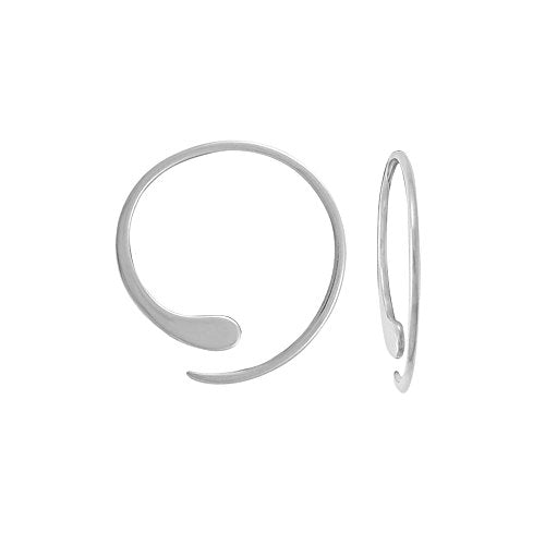 Essential Pull Through Hoop Earrings - Boma Life Sterling Silver
