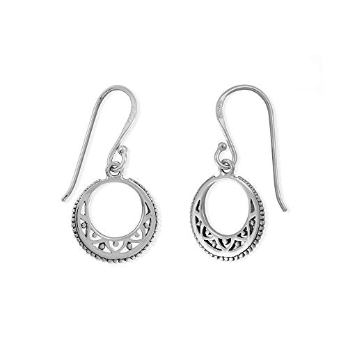 Bohemian Crescent Moon Earrings - Boma Life Sterling Silver