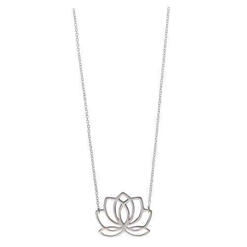 Lotus Blossom Flower Necklace - Boma Life Sterling Silver