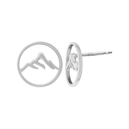 Circle Mountain Peak Stud Earrings - Boma Life Sterling Silver