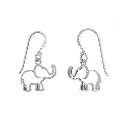 Elephant Outline Earrings - Boma Life Sterling Silver