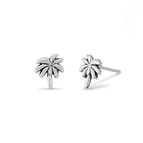 Palm Tree Stud Earrings - Boma Life Sterling Silver