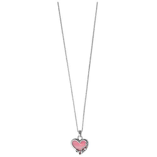 Pink Shell Filigree Heart Necklace - Boma Life Sterling Silver