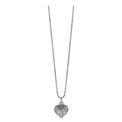 Vintage Filigree Heart Necklace - Boma Life Sterling Silver