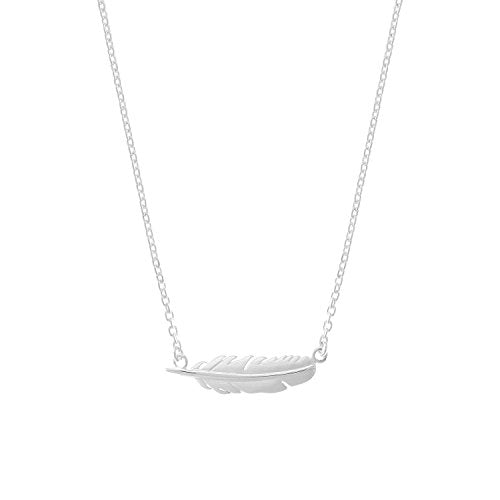 Horizontal Feather Necklace - Boma Life Sterling Silver