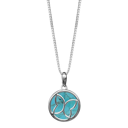 Turquoise Butterfly Necklace - Boma Life Sterling Silver