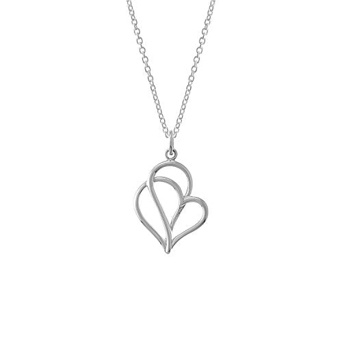 Twisting Heart Necklace - Boma Life Sterling Silver