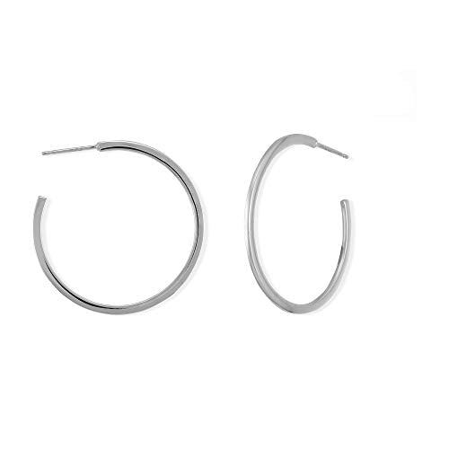 Essential One Inch Post Hoop Earrings - Boma Life Sterling Silver