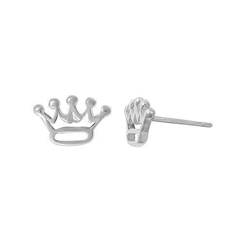 Crown Stud Earrings - Boma Life Sterling Silver