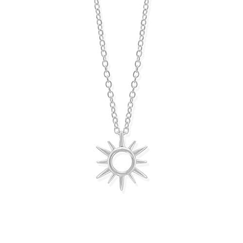 Sunburst Open Circle Stud Necklace - Boma Life Sterling Silver