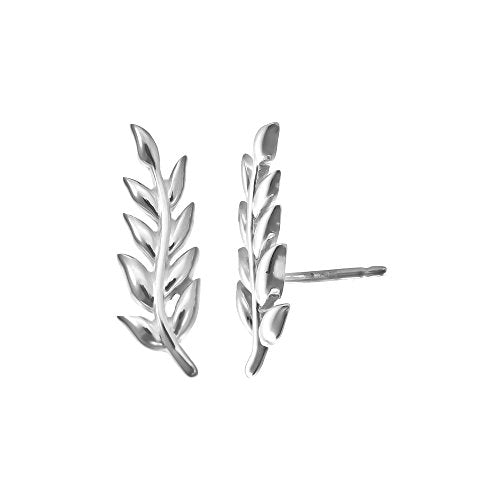 Branch Ear Crawler Earrings - Boma Life Sterling Silver