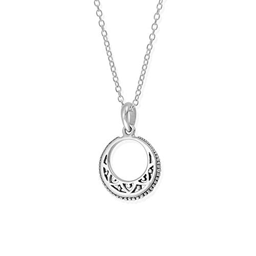 Bohemian Crescent Moon Necklace - Boma Life Sterling Silver