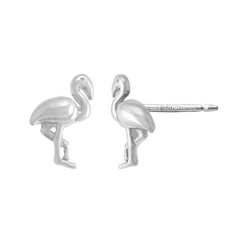 Flamingo Stud Earrings - Boma Life Sterling Silver