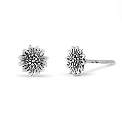 Sunflower Stud Earrings - Boma Life Sterling Silver