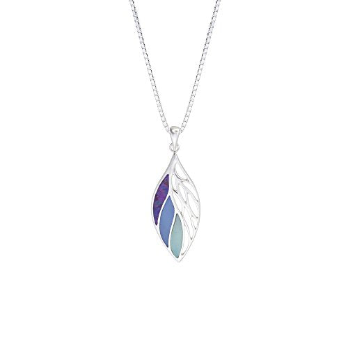 Purple Leaf Necklace - Boma Life Sterling Silver