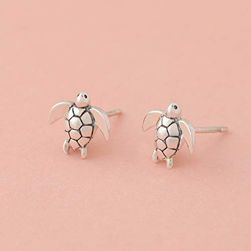 Sea Turtle Stud Earrings - Boma Life Sterling Silver