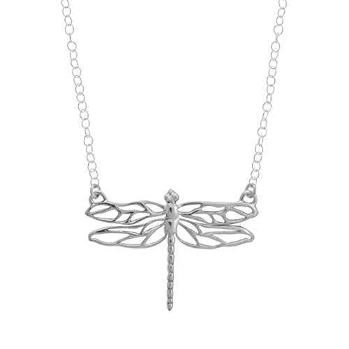 Dragonfly Necklace - Boma Life Sterling Silver