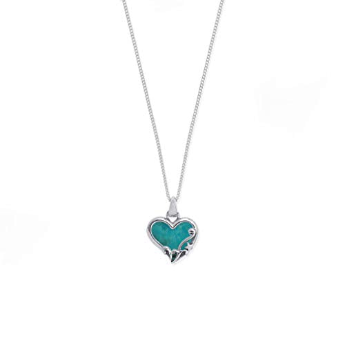 Turquoise Filigree Heart Necklace - Boma Life Sterling Silver