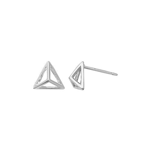 Pyramid Stud Earrings - Boma Life Sterling Silver