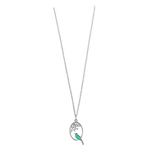 Kelly Green Bird Necklace - Boma Life Sterling Silver