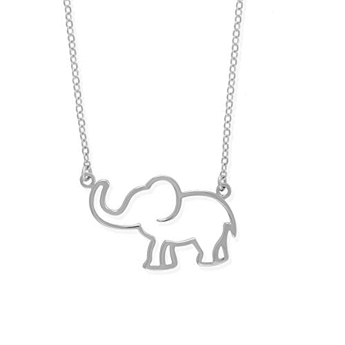 Elephant Outline Necklace - Boma Life Sterling Silver
