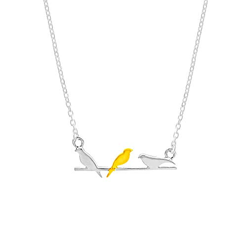 Birds on a Wire 14K Gold Vermeil Necklace - Boma Life Sterling Silver