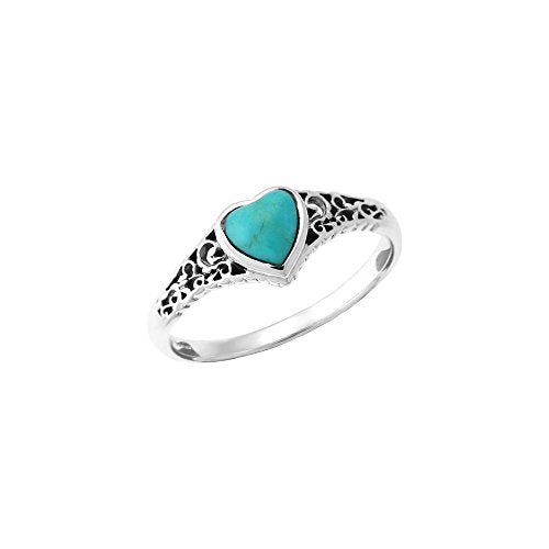 Turquoise Heart Ring - Boma Life Sterling Silver