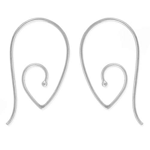 Teardrop Spiral Pull Through Hoop Earrings - Boma Life Sterling Silver
