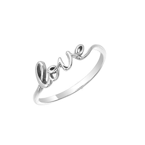 Love Script Ring - Boma Life Sterling Silver