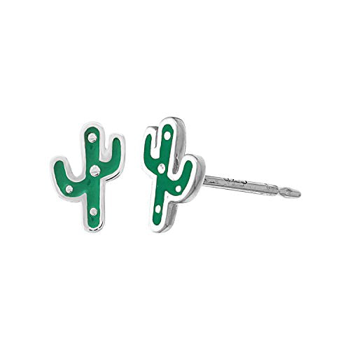 Cactus Stud Earrings - Boma Life Sterling Silver