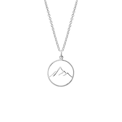 Mountain Pendant Necklace - Boma Life Sterling Silver
