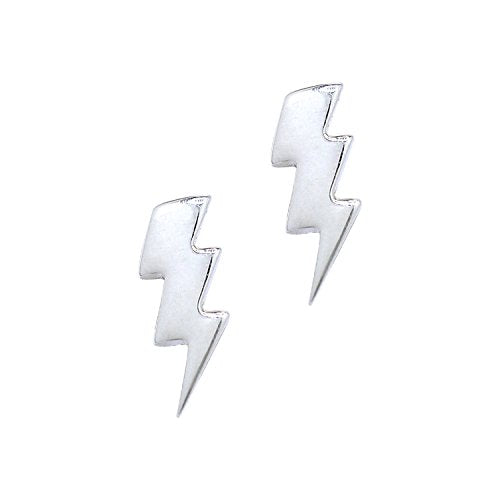 Lightning Bolt Stud Earrings - Boma Life Sterling Silver