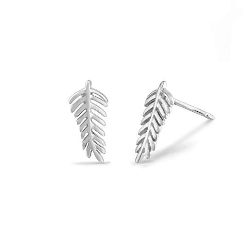 Fern Stud Earrings - Boma Life Sterling Silver