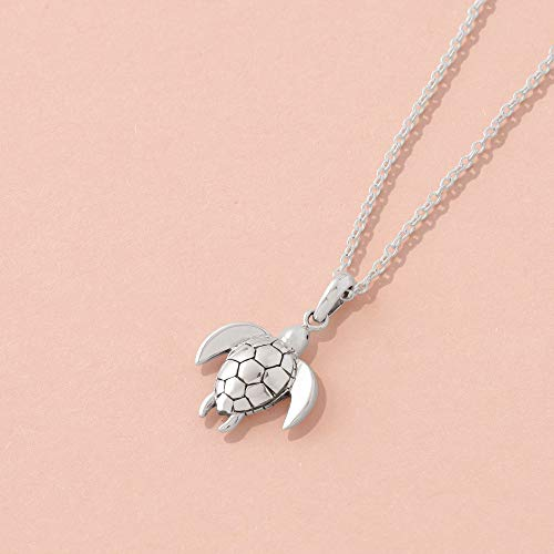 Sea Turtle Necklace - Boma Life Sterling Silver