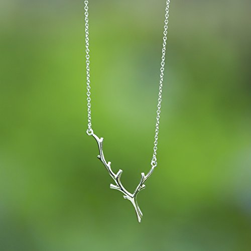 Delicate Branch Necklace - Boma Life Sterling Silver