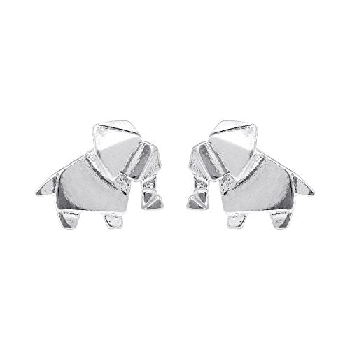 Origami Elephant Stud Earrings - Boma Life Sterling Silver