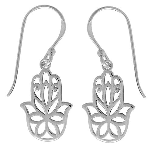 Hamsa Hand Earrings - Boma Life Sterling Silver