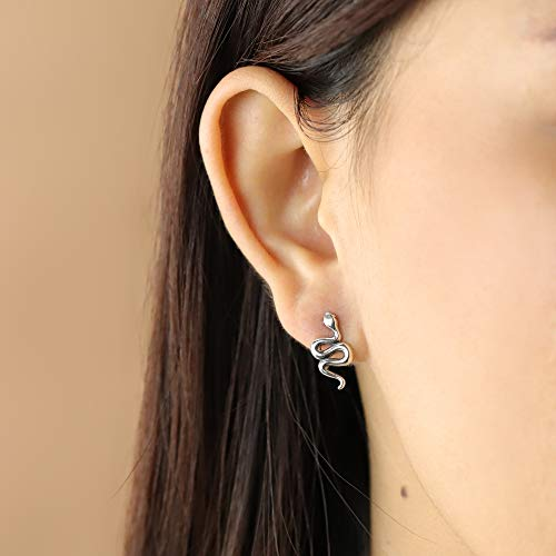 Slithering Snake Stud Earrings - Boma Life Sterling Silver