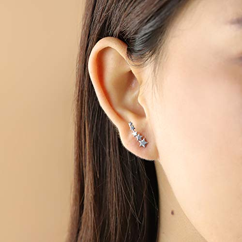 Star Constellation Ear Crawler Earrings - Boma Life Sterling Silver