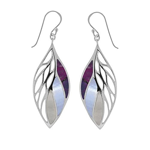 Purple Leaf Earrings - Boma Life Sterling Silver