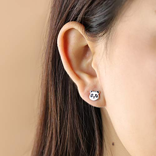 Panda Bear Stud Earrings - Boma Life Sterling Silver
