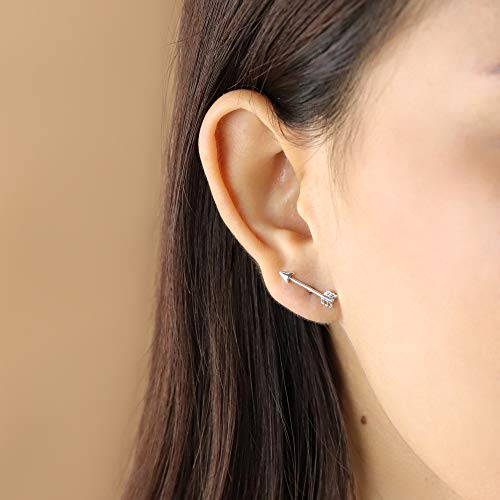 Long Arrow Stud Earrings - Boma Life Sterling Silver