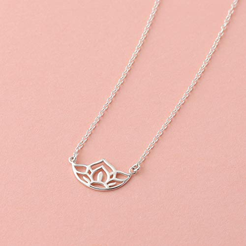 Lotus Flower Blossom Necklace - Boma Life Sterling Silver