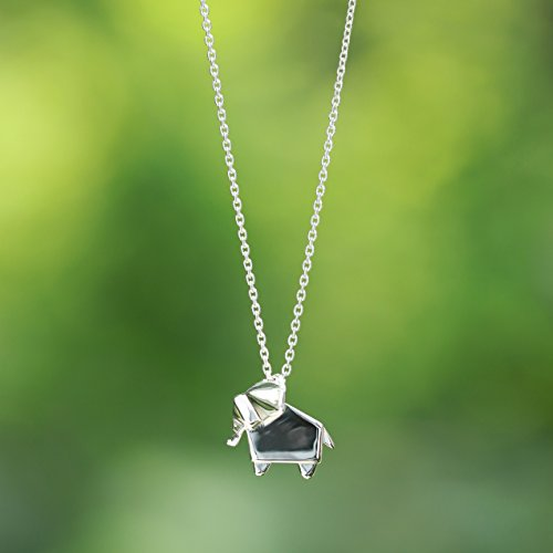 Origami Elephant Necklace - Boma Life Sterling Silver