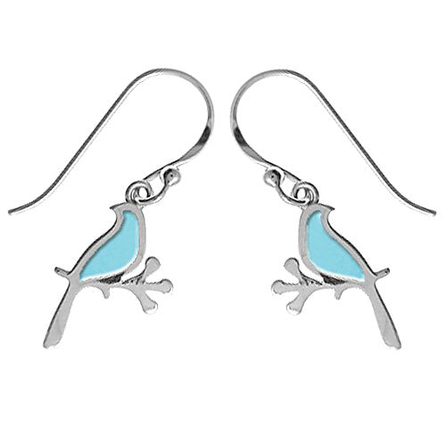 Blue Bird Earrings - Boma Life Sterling Silver